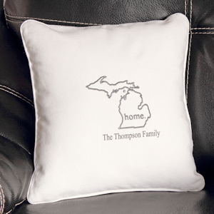 Personalized Home State Throw Pillow imagerjs