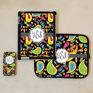 Paisley Print Personalized iPhone and iPad Accessories imagerjs