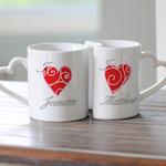 Personalized Heart Mug Set