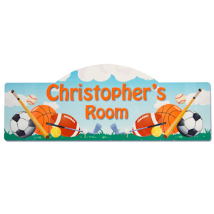Sports Design Personalized Room Sign imagerjs