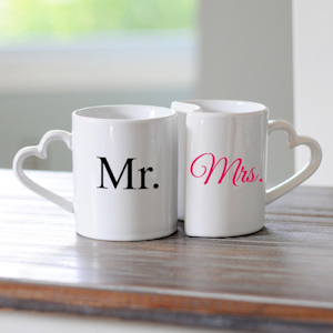 Mr. and Mrs. Coffee Mugs Set imagerjs