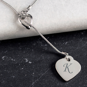 Monogrammed Double Heart Necklace imagerjs