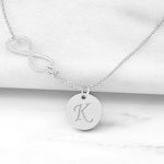 Personalized Infinity Necklace with Charm