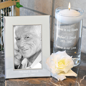 Personalized Floating Memorial Candle & Frame Set imagerjs