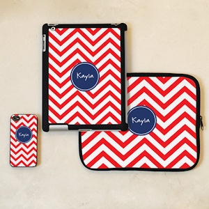 Chevron Personalized iPhone & iPad Accessories imagerjs