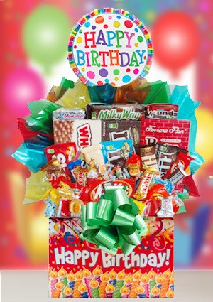 Sweet Celebration Birthday Candy Basket imagerjs