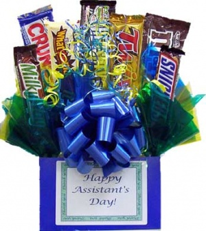 Assistant's Day Candy Bar Bouquet image