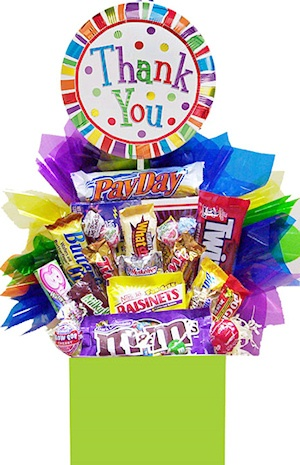 Cheery Thank You Candy Basket imagerjs