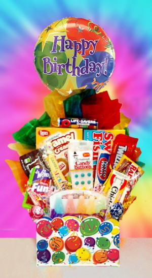 Retro Candy Birthday Basket data-pin-no-hover=