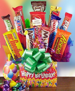 Birthday Surprise Candy Bar Bouquet imagerjs