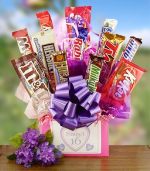 Sweet 16 Birthday Candy Bar Bouquet imagerjs