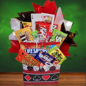 Happy Birthday Poker Style Candy Basket imagerjs
