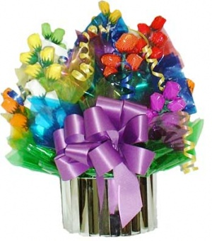 Fruit Bowl Candy Bouquet image