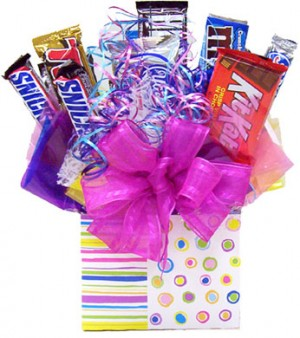 Dancing Rainbow Candy Bar Bouquet image