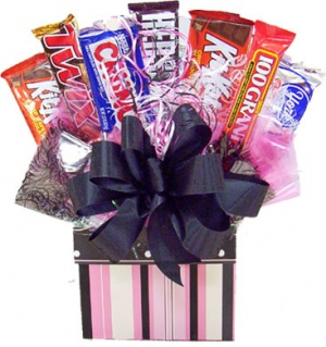 Retro Style Candy Bar Bouquet image