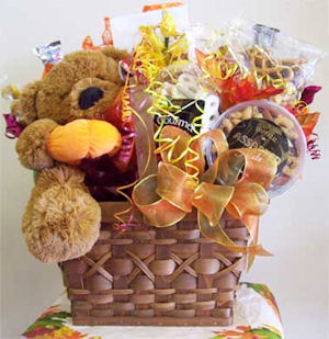 Fall TY Bear Candy Gift Basket image