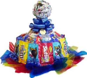 Graduation Candy Cake Centerpiece data-pin-no-hover=