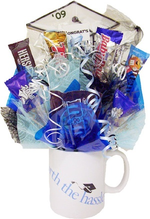 Graduation Mug Candy Bouquet image