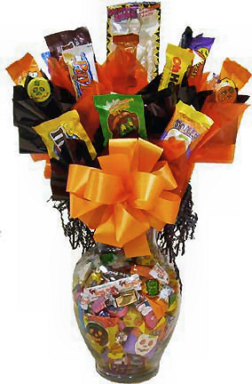 Halloween Candy Jar Bouquet data-pin-no-hover=