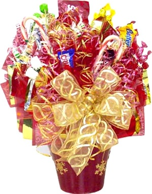 Sparkling Snowflake Candy Bouquet data-pin-no-hover=