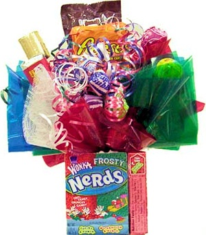 Holiday Nerds Edible Candy Base Bouquet data-pin-no-hover=