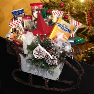 Birch Sleigh Holiday Candy Bouquet imagerjs