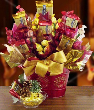 Winter Elegance Candy Gift Bouquet data-pin-no-hover=
