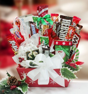 Snowflake Surprise Candy Gift Bouquet imagerjs