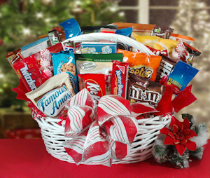 Snacks Galore Holiday Gift Basket imagerjs