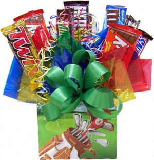 Golfing Candy Bar Bouquet image