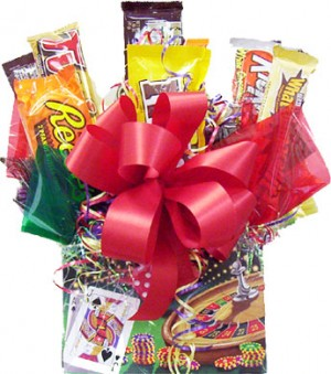 Vegas Jackpot Candy Bar Bouquet image
