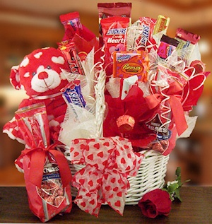 Sweet Valentine Plush Candy Basket imagerjs