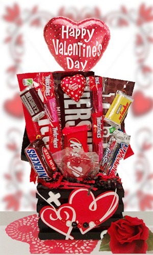 Valentine Wooden Crate Candy Stacker imagerjs