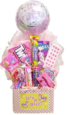 It's A Girl Newborn Candy Basket data-pin-no-hover=