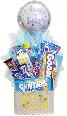It's A Boy Newborn Candy Basket data-pin-no-hover=