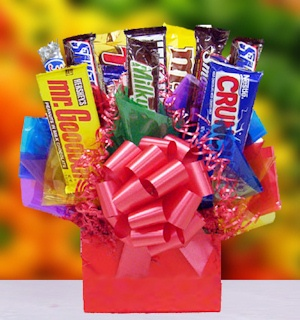 Righteous Valentine's Candy Bar Bouquet data-pin-no-hover=