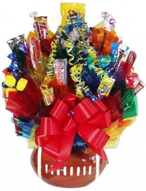 Touchdown Celebration Football Candy Bouquet image