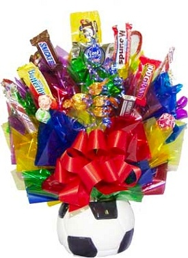 Soccer Ball Candy Bouquet image