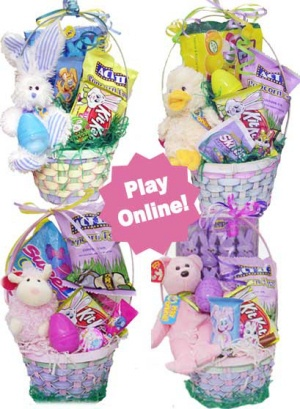 Easter Beanie Baby Candy Basket imagerjs