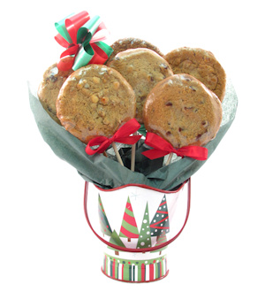 Christmas Tree Pail Cookie Bouquet imagerjs