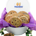 #1 Teacher Cookie Gift Tin
