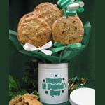 St. Patrick's Day Cookie Tin Bouquet