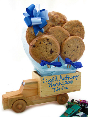 New Baby Wooden Truck with Cookies imagerjs