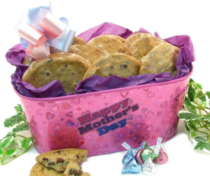 Mother's Day Pink Planter of Cookies imagerjs