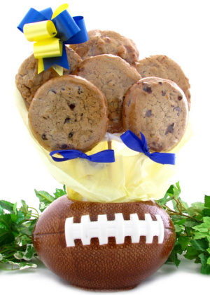 Football Themed Cookie Bouquet Planter imagerjs