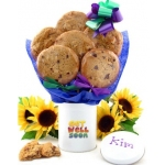 Get Well Cookie Tin Bouquet