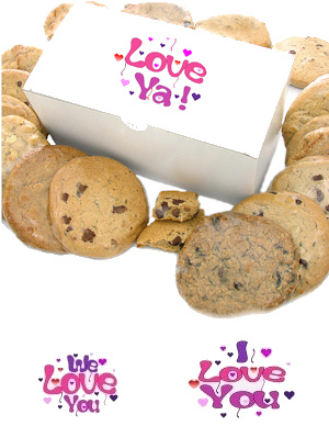 Love Themed Gourmet Cookie Box data-pin-no-hover=