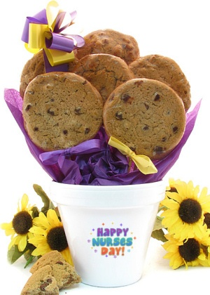 Nurses Day Pot of Stemmed Cookies imagerjs