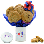 USA Patriotic Tall Tin Cookie Gift