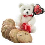 Valentine Sweetheart Bear with Cookies